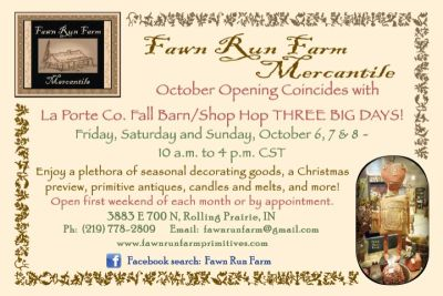 Fawn Run Farm October Opening