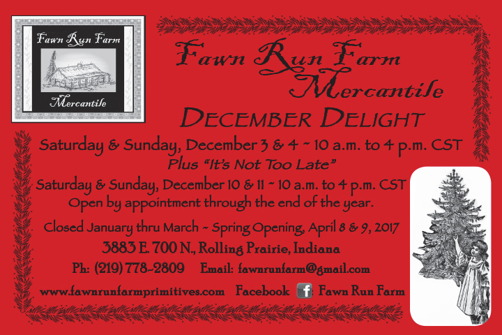 Fawn Run Farm December Openings