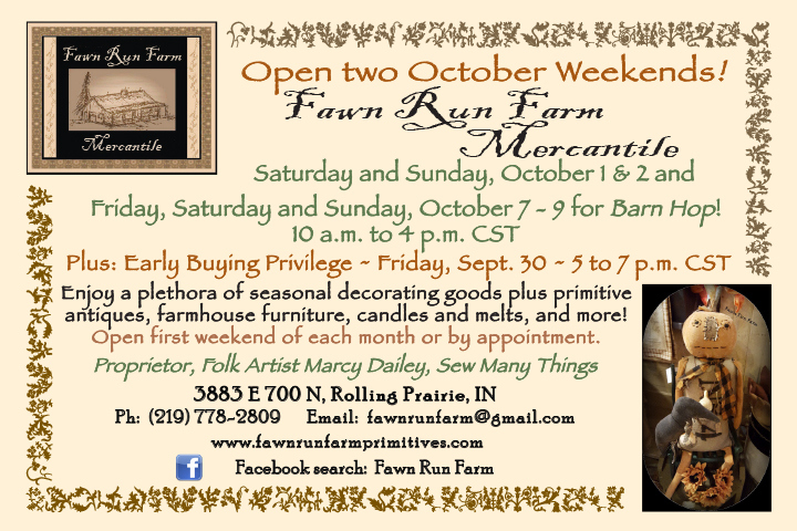 Fawn Run Farm Mercantile October Opening