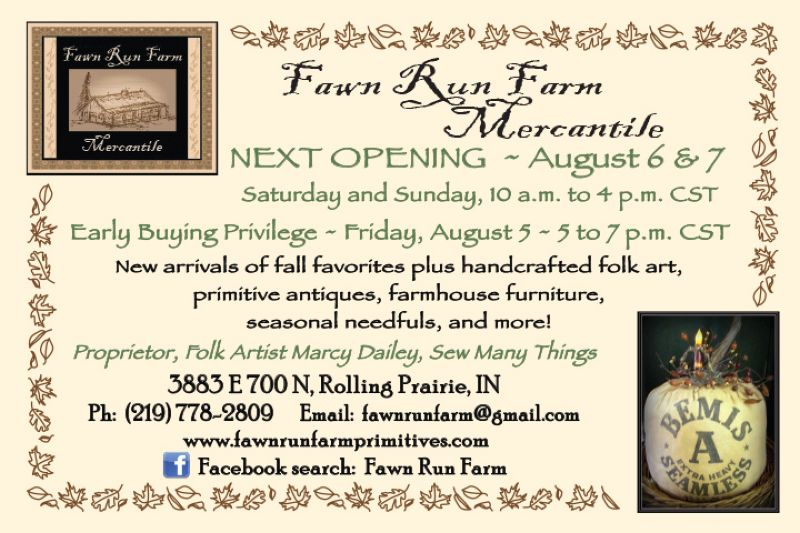 Fawn Run Farm Mercantile August opening