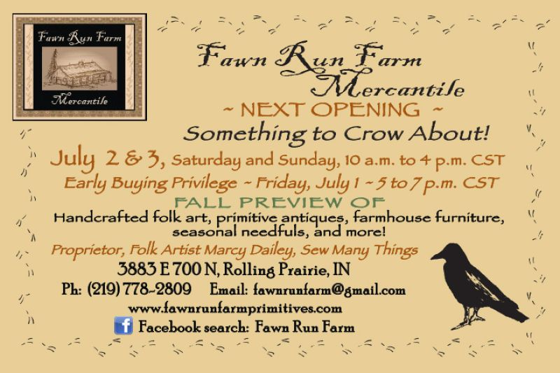 Fawn Run Farm Mercantile July opening