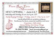 Next Mercantile Opening at Fawn Run Farm