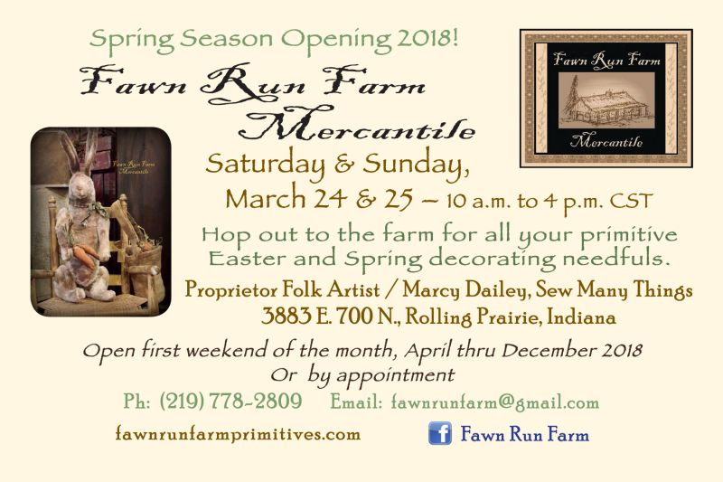 Fawn Run farm Mercantile spring opening