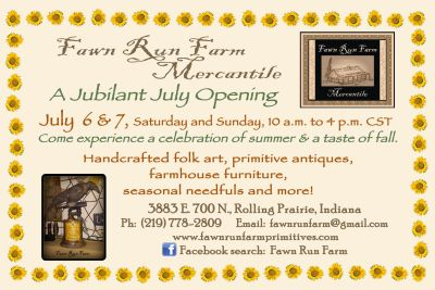 Fawn Run Farm Mercantile July Opening