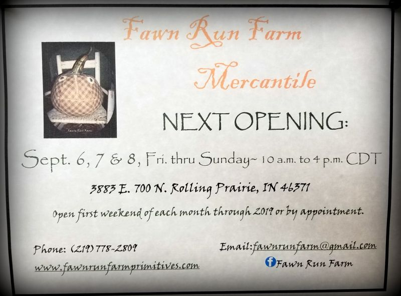 Fawn Run Farm September Opening
