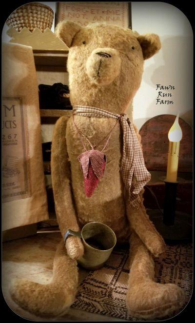 primitive handmade bear