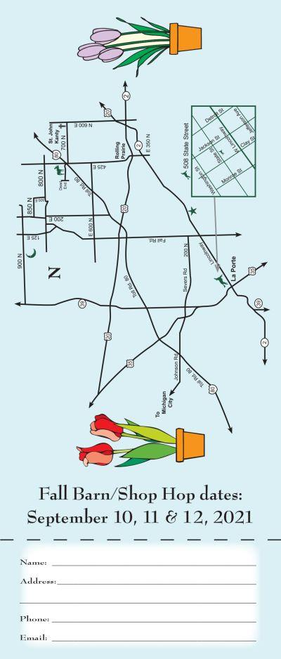 Barn Hop map